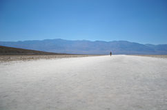 Alone in death valley Stock Images