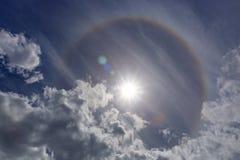 Alone dell'arcobaleno di Sun Immagini Stock
