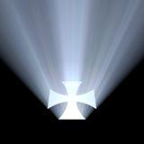 Alone della luce intensa di simbolo della croce celtica Fotografia Stock Libera da Diritti