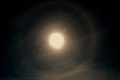 Alone della luna del cielo della stella Fotografie Stock