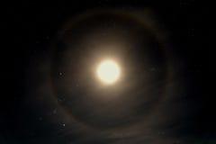 Alone della luna del cielo della stella Immagine Stock
