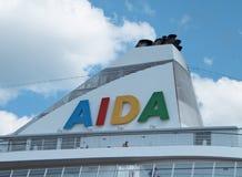 ALONE della nave di passeggero M/S AIDA Immagini Stock Libere da Diritti