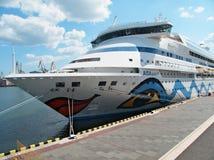 ALONE della nave di passeggero M/S AIDA Fotografia Stock Libera da Diritti