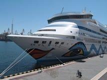 ALONE della nave di passeggero M/S AIDA Fotografie Stock Libere da Diritti