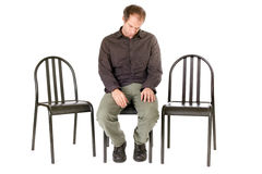 Alone depressed man Royalty Free Stock Photos