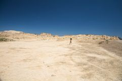 Alone at the desert Stock Photography