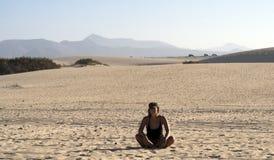 Alone in desert Stock Photography