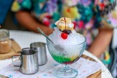 Alone di alone, dessert filippino di estate Fotografie Stock
