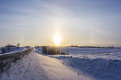 Alone di inverno in Carelia, Russia Immagini Stock Libere da Diritti