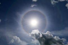 Alone di Sun nel cielo Fotografie Stock Libere da Diritti