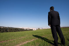Alone at the field royalty free stock photo