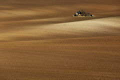 Alone in the fields. Little house in the middle of Moravian Tuscany fields Stock Images