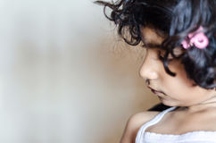 Alone girl child portrait Stock Images