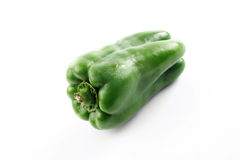 Alone green bell peppers Stock Photos