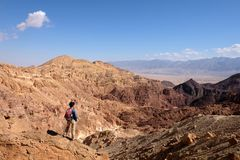 Scenic hike in Eilat Mountains. Royalty Free Stock Photo