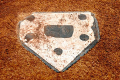 Alone at home plate. Home plate on a little league baseball field Royalty Free Stock Photography