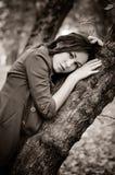 Alone i skogen Royaltyfri Fotografi