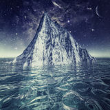 Alone iceberg in the ocean royalty free stock photos