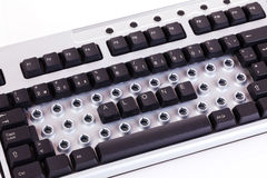 Alone keyboard. The only letters on the keyboard is alone Stock Photography