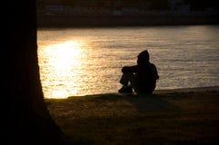 Alone man Stock Image