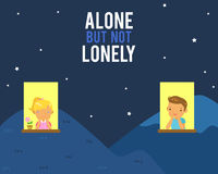 Alone but not lonely Royalty Free Stock Image