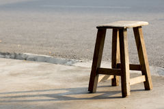 Alone old wooden chair. In front of my home Royalty Free Stock Image