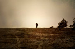 Alone On Moor Stock Photography
