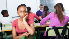 Free Alone Outcasted Student Being Mobbed By Other Students Royalty Free Stock Image - 72123446