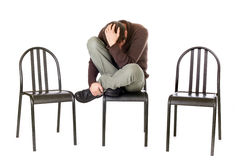 Alone sad man Royalty Free Stock Photo