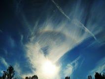 Alone scenico dell'arcobaleno immagini stock libere da diritti