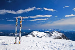 Alone ski Stock Photography