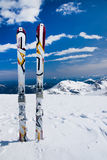 Alone ski Stock Images