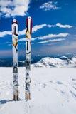 Alone ski Stock Images