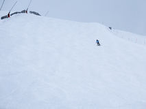 Alone skiers Royalty Free Stock Image