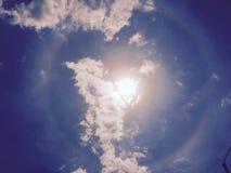 Alone solare primo dell'agosto 2016 Immagini Stock Libere da Diritti