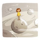 Alone in the Space royalty free stock images