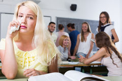 Alone student royalty free stock images
