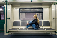 Alone in the subway Stock Photos