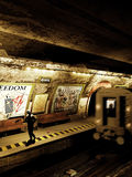 Alone in the subway Royalty Free Stock Photo