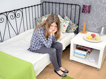 Alone with teen depression. Royalty Free Stock Images