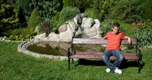 Alone teenage boy royalty free stock images