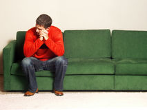 Alone and thinking. Stock Image