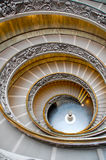 Alone On the Vatican's Spiral Walkway. A top-to-bottom shot from the famous spiral walkway when no one is around, Post Office, Vatican Museum Stock Photography