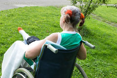 Alone in a wheelchair Stock Photography