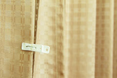 Alone white clothespin. On curtain Royalty Free Stock Photo