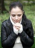 Alone woman Stock Image