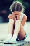 Alone worried girl Royalty Free Stock Images