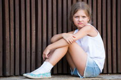 Alone worried girl Royalty Free Stock Photos