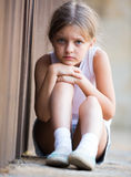 Alone worried girl Royalty Free Stock Image