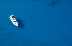 Alone yacht Stock Images